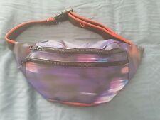 Purple Abstract Design Bum/waist Bag With Flourecent Orange Highlights....
