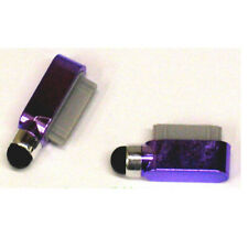 Dust Cover Dock Charge Port Stylus For iPad 2 3 iPhone 4 4G 4S 3G 3Gs Purple