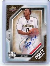 2009-10 UD DRAFT EDITION #51 JEFF TEAGUE AUTOGRAPH RC #110/499 HAWKS WAKE FOREST