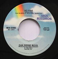 Country 45 Oak Ridge Boys - So Fine / I Wish You Were Here On Mca Records