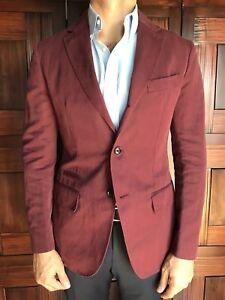 New Ermenegildo Zegna Cotton/Linen Slim Fit 3 Button Blazer Jacket 38R US $2995