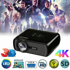 LED Smart Home Theater Projector 4K 1080P HD 3D AV/VGA/USB/SD/HDMI Video Movie