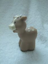 New!  Fisher Price Little People CHRISTMAS NATIVITY CALF BABY COW Spotted Tan