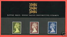 1987 High Values £1 - £5 Definitive Pack No 13