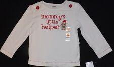 "New girls GYMBOREE ""Mommy's Little Helper"" long sleeve shirt Size 2T"