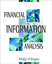 Financial Information Analysis, O'Regan, Philip, Very Good Book