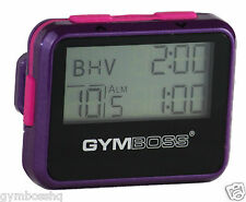 GYMBOSS INTERVAL TIMER & STOPWATCH VIOLET / PINK METALLIC GLOSS SHIP FROM CANADA