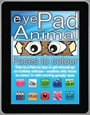 eyePad  ANIMAL FACES TO COLOUR : WH1/2 : PB629 : NEW BOOK