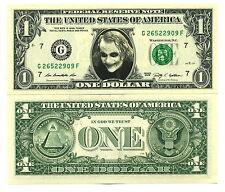 LE JOKER VRAI BILLET DOLLAR US ! Heath Ledger Super Heros Batman the Dark Knight