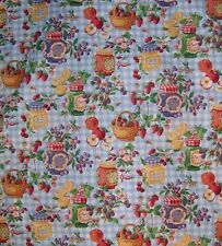 Grandma State Fair Prize Winning Country Fruit Jam Gingham Fabric BTQY off bolt