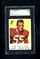1959 Topps # 155 Jim Taylor RC SGC 84 NM 7