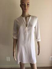 VINCE -White Silk Long Sleeve Dress Size 4 Org$395 NWOT