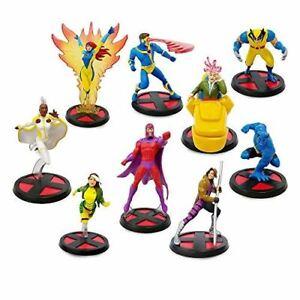 Disney Store X-Men Deluxe Figurine 9pce Playset - Marvel - containing 9 plastic