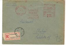 Poland cover cancel honoring Pabiancie pharmaceutical industry pharmacy