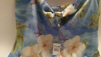 Hawaiian strapless dress size large .brand new with tags .