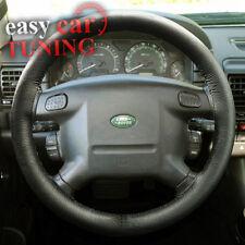Para Land Rover Discovery 1 89-98 Negro de Cuero Genuino Real Cubierta del volante