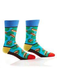 Yo Sox Romero Britto Collab Men's Crew Socks Hamburger Design  Fits 7-12