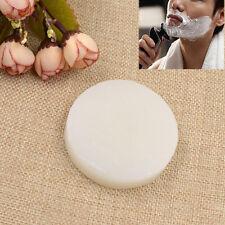 White Round Foaming Lather Shaving Soap for Men Shaving Travel Portable