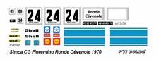 DECAL 1/43 SIMCA CG 1300 FIORENTINO RONDE CEVENOLE 1970