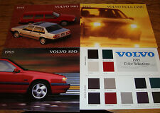 Original 1995 Volvo Full Line 850 940 Color Selections Sales Brochure Lot of 4