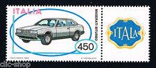 ITALIA IL FRANCOBOLLO MACCHINA MASERATI BITURBO AUTO 1984 nuovo**
