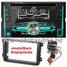JVC Autoradio Doppel-DIN USB MP3 Radio für VW Caddy Passat B6 3C Tiguan Touran