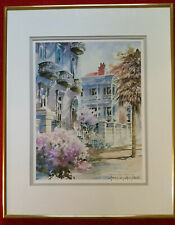 "Josie Van Gent Edell ""Sunday in Charleston"" Framed, Watcolor, Signed Print"