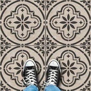 Alhambra Floor Tile Stencil, Paint existing Floor Tiles & Patio slabs