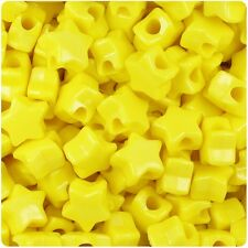 "50 x Yellow Opaque 13mm Star Shape Top Quality Pony Beads ""3 for 2"""