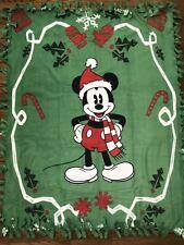 Christmas Mickey Mouse Fleece Tie Blanket
