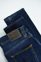 RRP $145 NUDIE GRIM TIM CROSSHATCH WORN IN Men W33/L32 Stretch Org Jeans 4207_mm