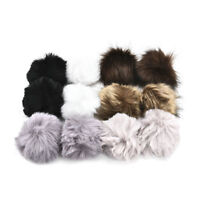 12x Faux Fur Pom Pom Ball DIY Fur Pom Poms for Hats Shoes Scarves Bag Keychain
