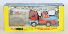 CORGI 1144 CHIPPERFIELDS CIRCUS SCAMMELL CRANE AVEC CAGE Very Near Comme neuf BOXED