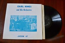 Earl Hines & His Orchestra Jazz Private Label Jazum Record lp VG++