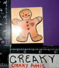 GINGERBREAD COOKIE RUBBER STAMP HERO ARTS E227