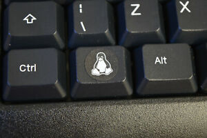 Linux Tux circle keyboard sticker