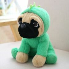 "Cuddly 8"" Pug Dog Dinosaur Costumes Cuddly Soft Animal Plush Teddy Birthday Gift"