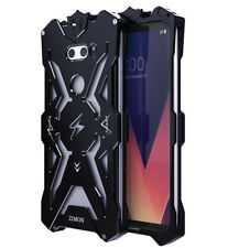 SIMON Rugged Shockproof Metal Protective Bumper Mobile Case Cover for LG V30