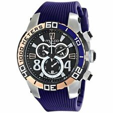MULCO DIVER CHRONOGRAPH DAY & DATE SILICONE STRAP MEN'S WATCH MW1 74197 044 NEW