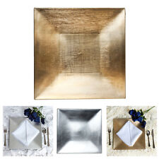 "24pcs 12"" x 12"" Square Charger Plates Dinner Chargers For Wedding Events"