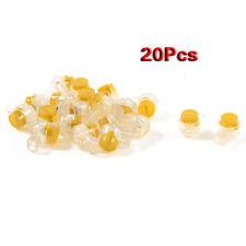 20 x 2 connettori UY pulsante giallo cavo UY Giunto di testa per 2 fili HK