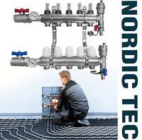 Heizkreisverteiler Fussbodenheizung NORDIC TEC 2-12 Heizkreisen VOLL / Topmeter