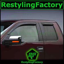 04-14 Ford F150 F-150 Extended Cab Smoke Tint 4pc Window Visor Rain Sun Guard
