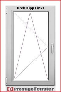 Dreh / Kipp Fenster. 2 oder 3 Fache Verglasung 6 Kammer Kunststoffenster