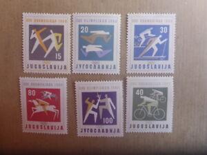 YUGOSLAVIA 1960 OLYMPICS GAMES 6X STAMPS MUH