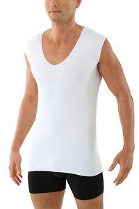 Albert Kreuz Herren Unterhemd Ohne Arm Clean Cut V Ausschnitt aus Baumwolle