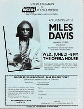 MILES DAVIS  Original Concert Handbill Flyer 1989 Boston