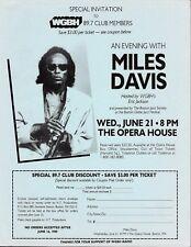 Miles Davis Original Concert Handbill Flyer 1989 Boston