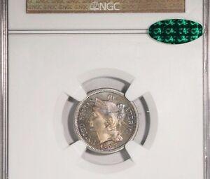 1883 Nickel Three Cent NGC PF66 CAC