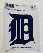 """Detroit Tigers 3"""" x 4"""" Small Static Cling D Logo Truck Car Auto Window Decal NEW"""